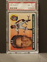 1955 Topps Mel Roach NM-MT PSA 8 (OC) Milwaukee Braves