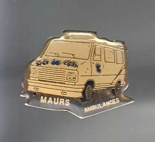 RARE PINS PIN'S .. CAMION BREAK AMBULANCE SAMU SMUR PEUGEOT MAURS 15 ~AS
