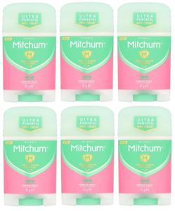 6 X Mitchum Advanced 48hr POWDER FRESH Women Stick 41g