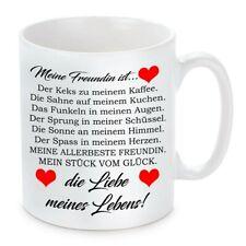 Herzbotschaft® Tasse mit Motiv: Mein Freundin ist die Liebe meines Lebens