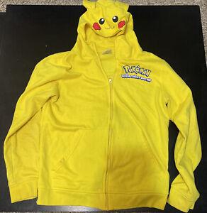 Pokemon Gotta Catch Em All Sweatshirt XL Hoodie Yellow Pikachu