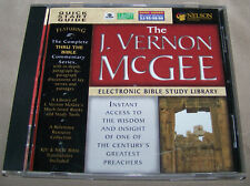 The J. Vernon McGee Electronic Bible Study Library Cd-Rom
