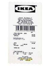 IKEA MARKERAD 90x200cm Tapis à Poils Ras - Blanc/Noir