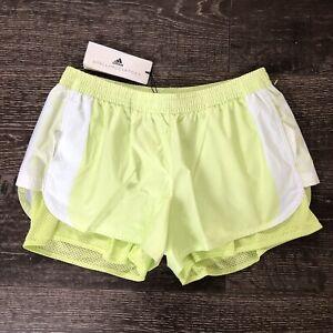 Adidas by Stella McCartney FK9699 M20 SHORTS White / Frozen Yellow Sz S