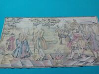 Vintage Beautiful 20 X 36 Colonial Tapestry - Made in Belgium