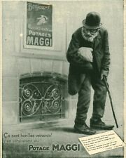 Publicité ancienne potage Maggi 1909 issue de magazine