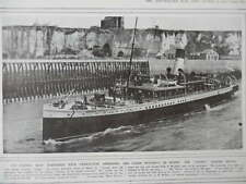1916 BRITISH MAIL BOAT 'SUSSEX' TORPEDOED IN CHANNEL, AMERICANS MISSING WWI WW1