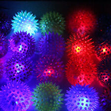 1/5/10Pcs Light-Up Dog Cat Balls LED Flashing Bumpy Bouncing Sensory Pets Toys