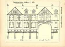 1898 Elevation Of Market Buildings Sketch