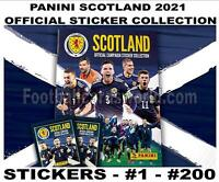 PANINI SCOTLAND 2021 EUROS STICKER COLLECTION - #1 - #200