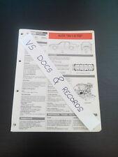 FICHE TECHNIQUE AUTOMOBILE RTA AUDI 80 1.9 TDI (CL 9)