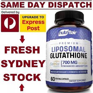 Liposomal Glutathione Setria® 700mg 60 Caps NutriFlair DOUBLE STRENGTH & REDUCED