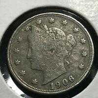 1906 LIBERTY NICKEL COIN FULL LIBERTY