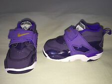 USED AIR SPEED TURF SZ 6.5C TODDLER DEION SANDERS PURPLE GOLD WHITE LSU LAKERS