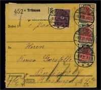 DEUTSCHES REICH 1922 interessante Paketkarte gestempelt (105012)