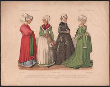 1850 lithographie costumes mode Nuremberg Nürnberg Bavière Allemagne