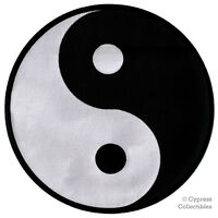 LARGE YIN YANG embroidered iron-on PATCH karate ying tai chi MARTIAL ARTS BACK