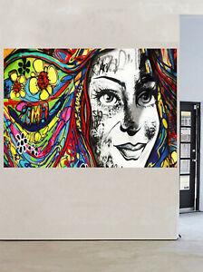 poster print painting Urban Princess  Art Girl wall decor