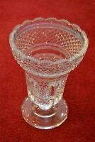 Vase, Kristallglas geschliffen, 21,5 cm hoch