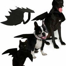 Bat Wings Cosplay Pet Dog Cat Clothes Decoration Costumes Funny Black Vest