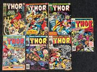 The Mighty Thor Marvel Comics Issues #180, 216, 220, 233, 253, 258,259 7 Comics