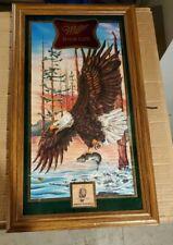 Vintage Miller High Life Beer American Eagle Framed Mirror Sign #209 of 15,000