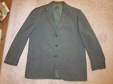 Vtg Mavest for Wilson Clothing Co green brown plaid trad blazer, men's size 42R