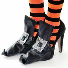 Witch Shoe Covers Halloween Fancy Dress 20372