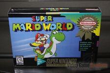 Super Mario World (Super Nintendo, SNES 1992) H-SEAM SEALED & MINT! ULTRA RARE!