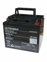 ULTRAMAX NPG45-12 - 12V 45Ah 'AGM' DEEP CYCLE GEL BATTERY - SOLAR POWER STORAGE