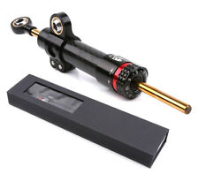 13.5'' Motorcycle Steering Damper Stabilizer Black Carbon Fiber Universal 8MM