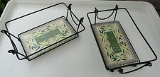 New listing Temptations Wire Basket & Glass Trivet Lid Combo 1.5 Quart Old World Confetti