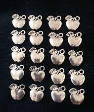 20 x Apple Charms Pendants 11 x 11mm Teacher Jewellery Making Crafts