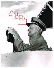 WWII 8X10 US NAVY PHOTOGRAPH OF ADMIRAL CHESTER NIMITZ ABOARD USS WILTSIE DD-716