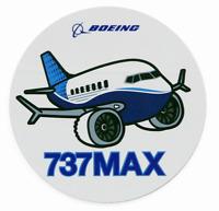 NEW Boeing 737 MAX Pudgy Sticker, UPC# 580080110104