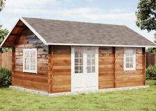 Gartenhaus und Freizeithaus Arizona Holz 598x410 cm Satteldach Blockhaus Laube