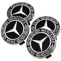 4PCS 75mm 3pin Wheel Center Hub Caps Cover Cap Car Logo Emblem for Mercedes Benz