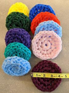 10 Nylon Scrubbies Assort. Colors pot scrubbers scrubbies very tough Petticoat