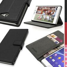 Custodie portafogli nero per Sony Xperia M