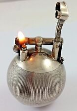 Rare 1929 Dunhill Unique Solid Sterling Silver Ball Lighter London - Nice!