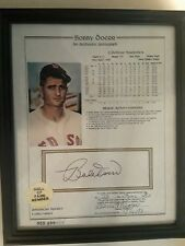 Bobby Doerr Certified/Notorized Autograph with Stats----Baseball Hall of Fame