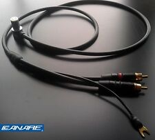 Canare starquad tonearm cable - for Linn, SME, Roksan etc - 24AWG - 1.2m length