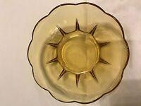 Anchor Hocking Swedish Modern-Amber Dessert Bowl