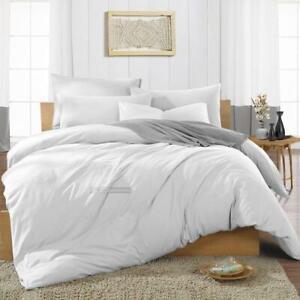 White Duvet Cover Set All Bedding 600 Count Comforter Premium Egyptian Cotton