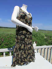 NEW RRL S dress Ralph Lauren crinkled silk slip black floral vintage look $695