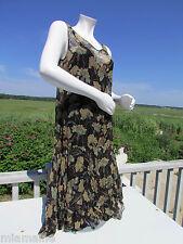 NEW RRL S dress Ralph Lauren crinkled silk slip black floral vintage look $695