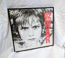 "U2 signed "" WAR "" Album Vinyl Bono + The EDGE + Beckett COA Experience innocence"
