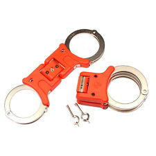 TCH850R Brand new red nickel plated rigid folding handcuffs