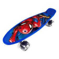 Skateboard Funboard Deck Kinder 55 cm Kunststoff Rutschfest Spiderman Avengers