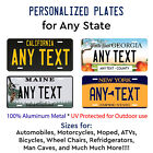 Any State License Plate Tag Personalized Custom Any Text Auto Car Bike Bicycle